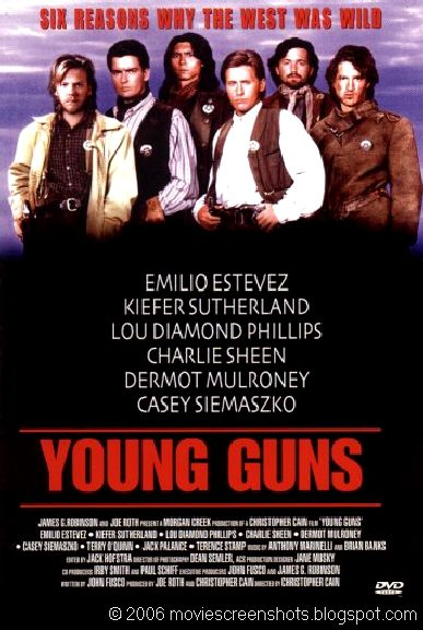 Vagebond's Movie ScreenShots: Young Guns (1988)