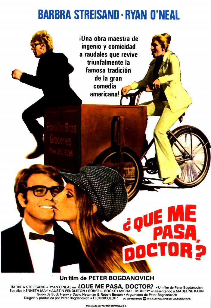whats up doc Overview of what's up, doc, 1972, directed by peter bogdanovich, with barbra streisand, ryan o'neal, madeline kahn, at turner classic movies.