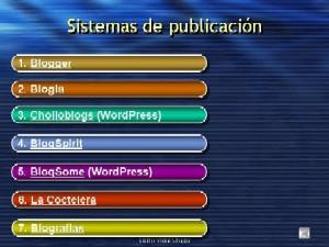 Creación y gestión de blogs