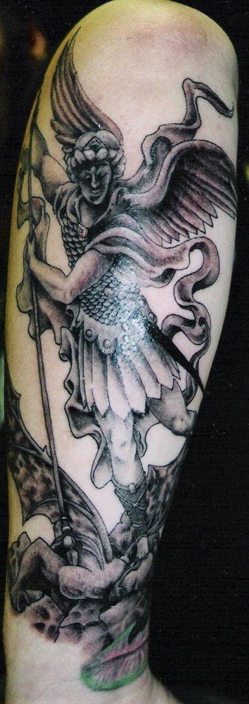 Michael Vs Lucifer Tattoo Michael vs. lucifer tattoo