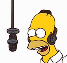 Homer sings Karaoke