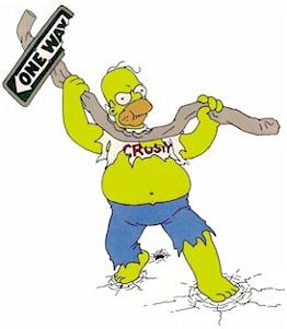 Homer Angry, must smash