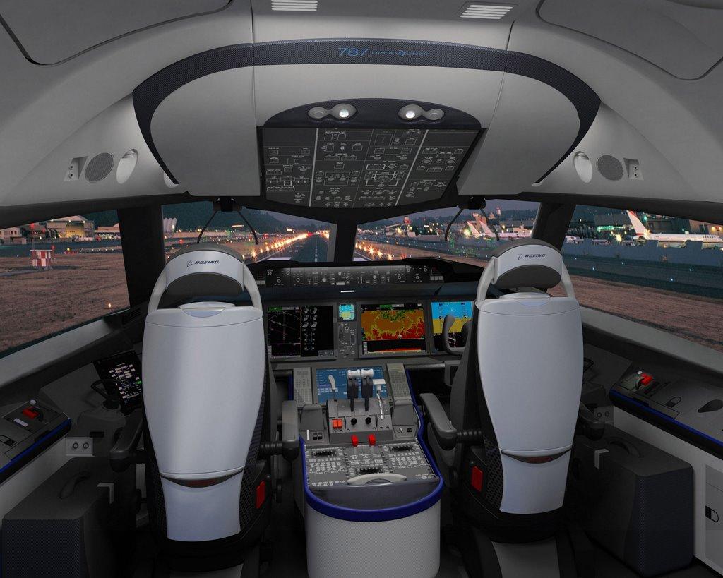 die luftfahrt foto cockpit des boeing 787 dreamliners. Black Bedroom Furniture Sets. Home Design Ideas