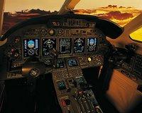 Citation X's Cockpit mit Komplettausstattung