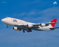 Boeing 747-400D der Japan Airlines