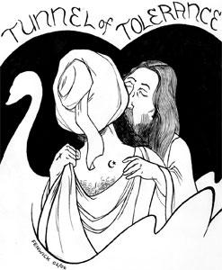 Cartoon, Christ, Islam, Muhammad