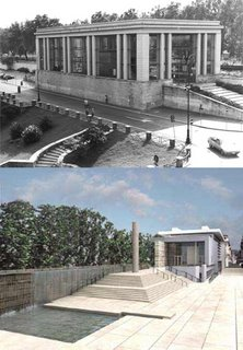 Ara Pacis-Before and after. Click to see larger.