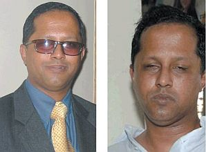 Choudhury before and after being beaten up by a mob led by members of the ruling party