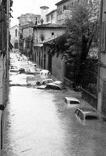 A street in Florence on November 4th, 1966
