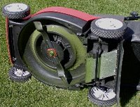 Mulching blade on a rotary mower like mine. However, my grass is higher than in the picture.