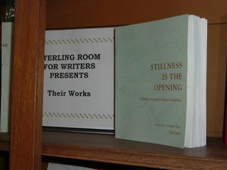 Book _Stillness is the Opening_ on self in the Sterling Room for Writers at Central Library