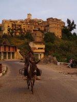 Il villaggio di Ait Eurbah al tramonto