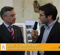 Un momento della mia intervista al Tenente Colonnello Luciano Garofano