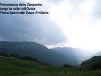 Immagine panoramica della valle dell'Ozola e del suo Zanzaretum