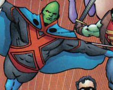 Because after forty years, J'onn thought 'gee, I need a shirt'
