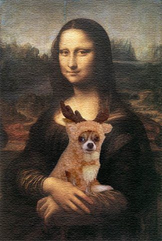 From TigerSan's PhotoBlog: Mona Tiger... with Mona Lisa