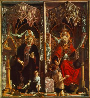 St Agostinho e São Gregório - 1483 - Alte Pinakothek, Munich