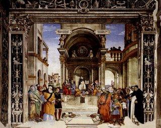 Triunfo de Tomás de Aquino sobre os Hereges - de Filippino Lippi - 1489-91