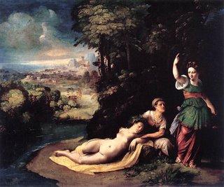 Diana e Calisto - Dosso Dossi - c.1528 - Galleria Borghese, Roma, Itália