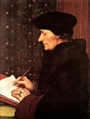 Erasmo de Rotterdam - 1469-1536 - Pintura de Hans Holbein the Younger - Acervo do Museu do Louvre - Paris