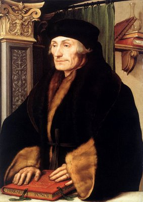 Erasmo de Rotterdam - 1469-1536 - Pintura de Hans Holbein the Younger - Acervo da National Gallery - Londres