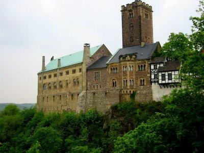 Castelo de Wartburg, onde passou grande parte da sua vida servindo ao Príncipe Frederick III