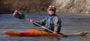 BRT in Frankenstein kayaking on NF Cache Creek