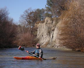 Bruce kayaking on Cache Creek
