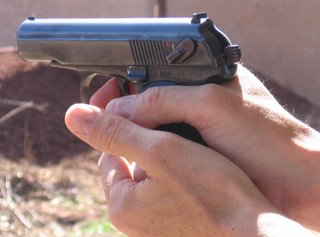 Gun on target, finger on trigger...No problem!