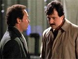 Bruno Kirby and Billy Crystal in _When Harry Met Sally_