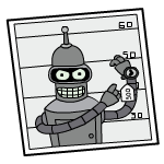 Bender, from _Futurama_
