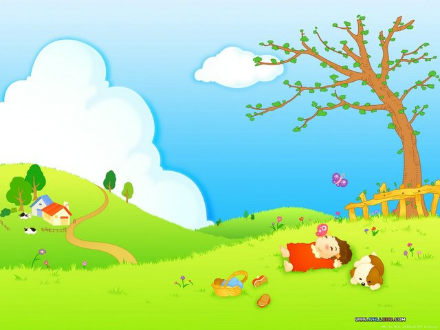 Осенняя полянка картинка