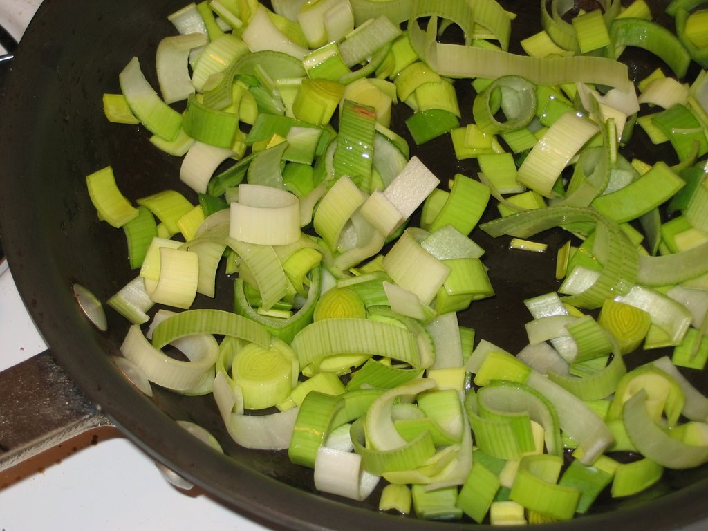 how to cut leeks for roasting