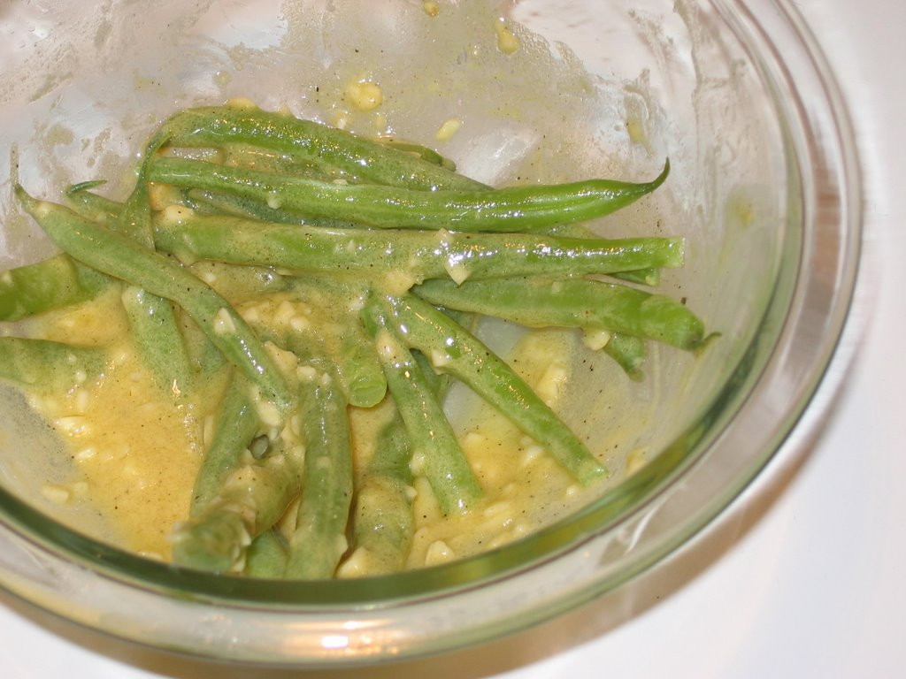 String Beans with Garlic Mustard Vinaigrette | The Pearl Onion