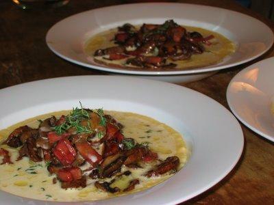 Shrimp And Pancetta On Polenta Recipes — Dishmaps