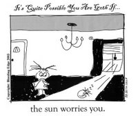 It's quite possible you are Goth if the sun worries you.