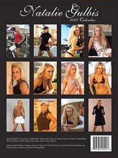 natalie gulbis 2007 calendar