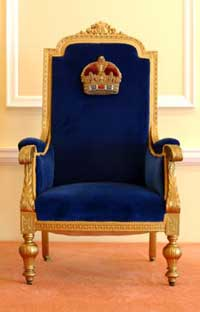 The other throne speech Royal Blue Throne