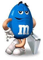 Image result for blue m&m character