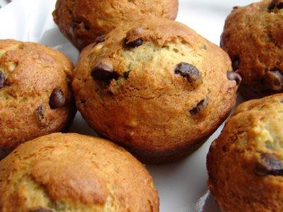Mes fameux muffins aux bananas et chocolat