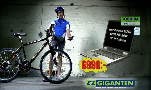 elgiganten cykel på köpet