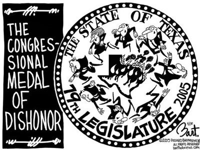 Title: 79th Legislature; Text: The Congressional Medal of Dishonor. The State of Texas, 79th Legislature, 2005