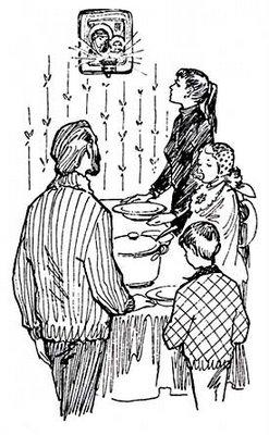 table repas prière famille icône