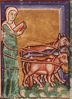 sainte cecile enluminure psautier saint-bertin anno1200
