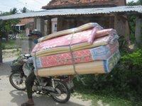 Alles kan vervoerd worden op een scooter - leve Vietnam!
