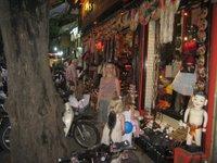 Voorbeeld van de drukte op straat.
