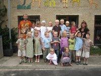 0.b - de nieuwe klas van Kristine met juf Henriette en pedagoog Henrik.