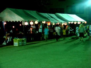 matsuri stalls at bonodori