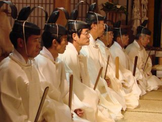Shinto priests in Shimane