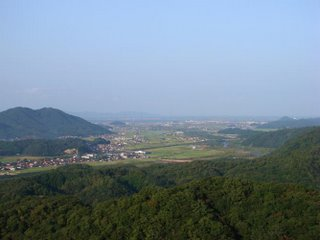 View from Gassan towards Yasugi and Daikon Island